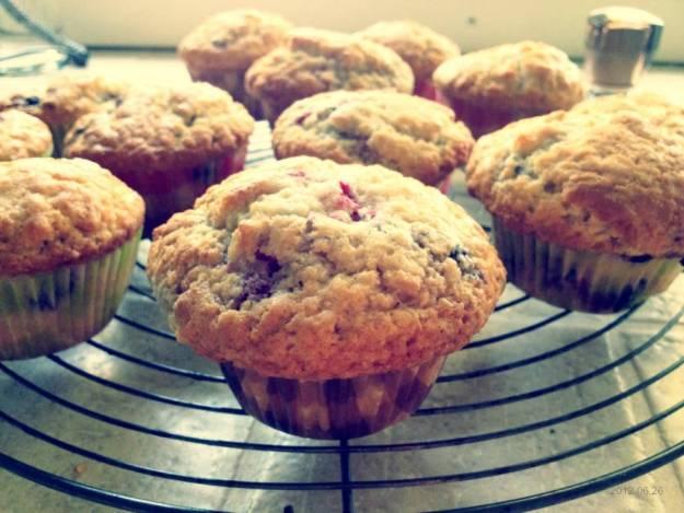 Zwarte bes muffins