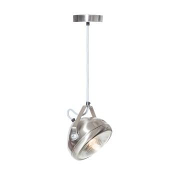 No.5 Hanglamp vintage koplamp RVS