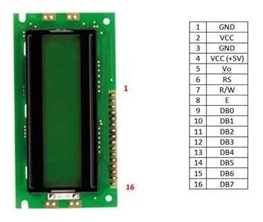 IDE_PINES LCD 16x2 EW162B0YMY