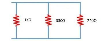 ejemplo de resistencia equivalente en circuito en paralelo