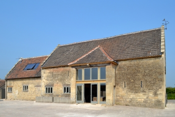 Exterior shot of the Grade 2* 17th Century farm building converted for Jamies Trust in Wiltshire
