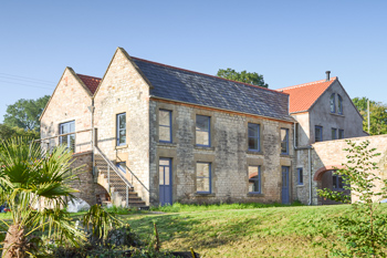 Image of the outside of the renovated buildings at Paulton Engine