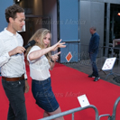 Première van de film Now You See Me 2 op 08 juni 2016 bij Pathé ArenA. Op de foto: Pim Wessels en Pip Pellens