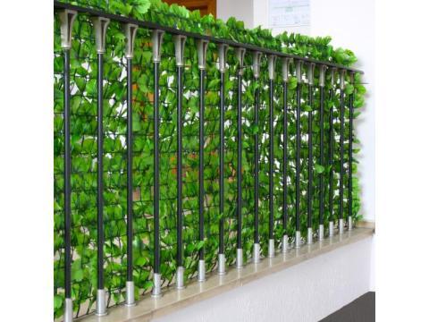sichtschutz fuer zaun sichtschutz windschutz verkleidung für balkon terrasse zaun ~ blatt hell   x  cm