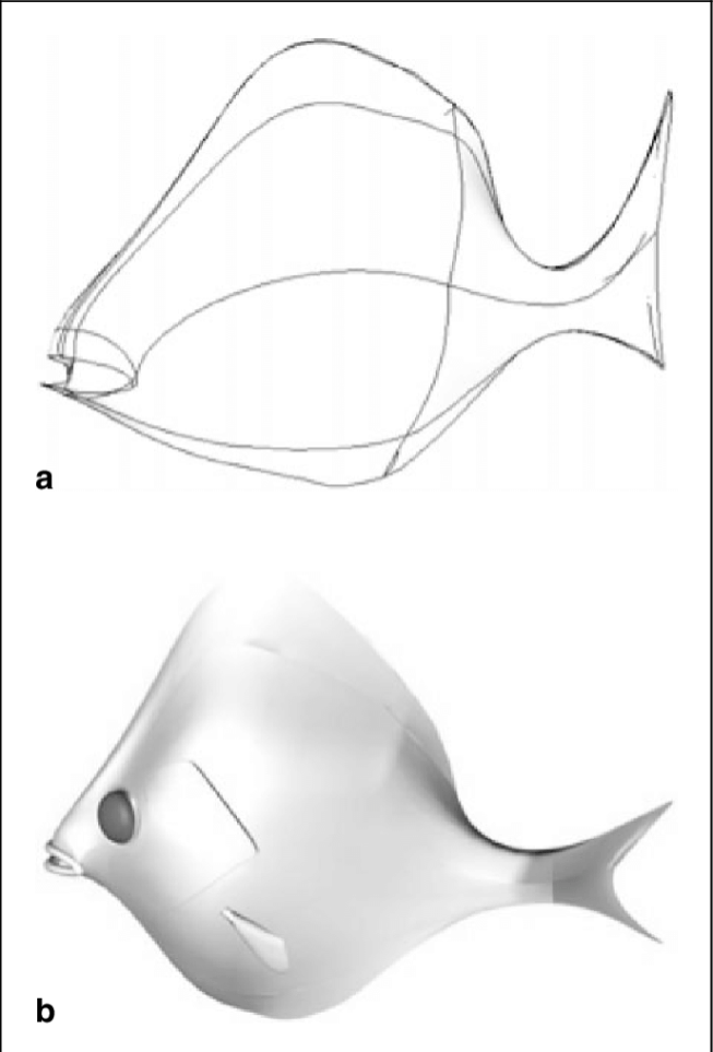 a-b-Designing-a-fish-shaped-3D-object-using-generalized-cylinders-a-the-wireframe-of