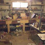 Atelier d'une maison avant débarras à Nanterre