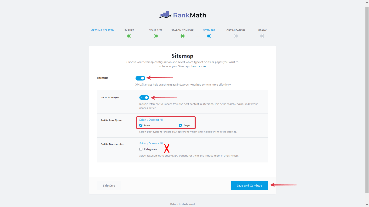 Enable Sitemap In Rank Math