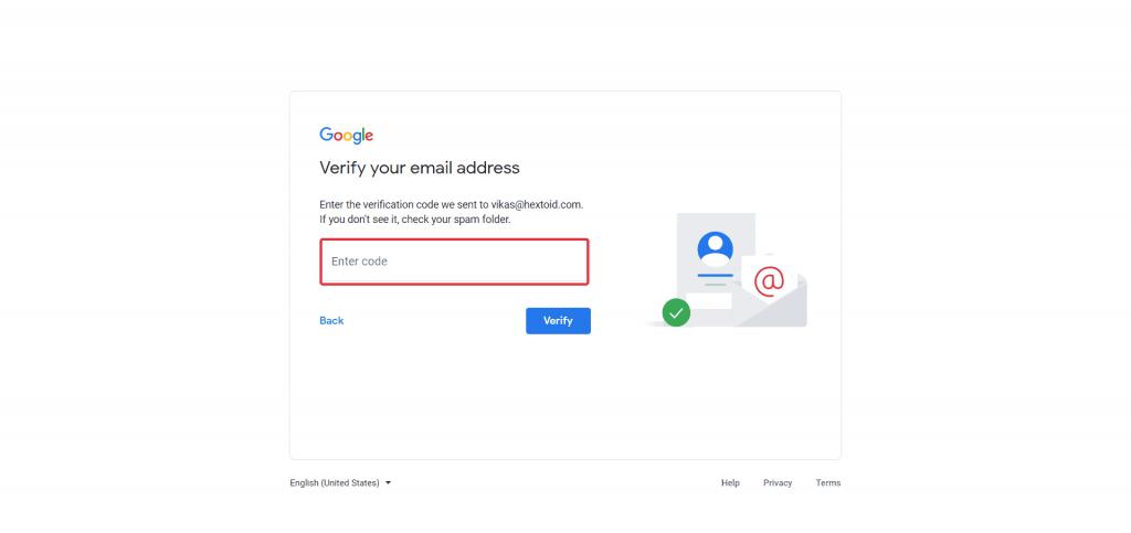 Enter Confirmation Code
