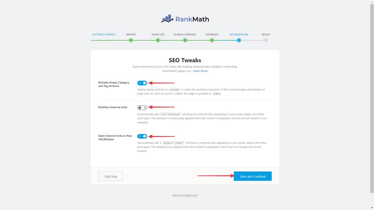 Set Up Rank Math SEO Tweaks Optimization