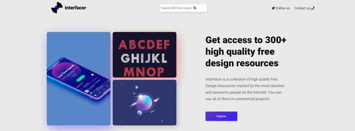 Interfacer: 300+ free design resources