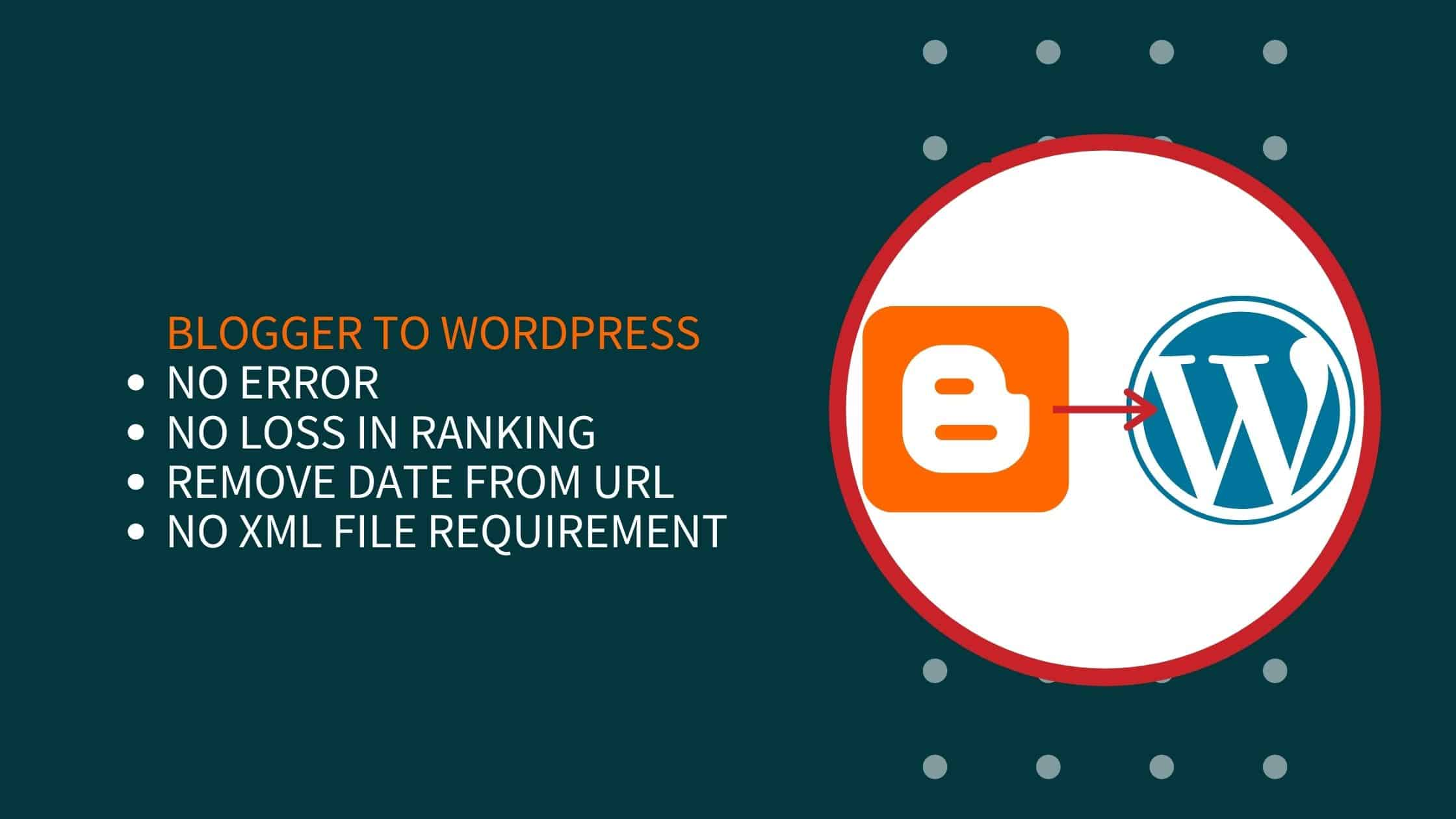 How To Migrate From Blogger To WordPress Without Losing Rankings