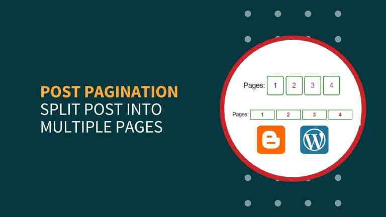 How To Split WordPress Post Into Multiple Pages?