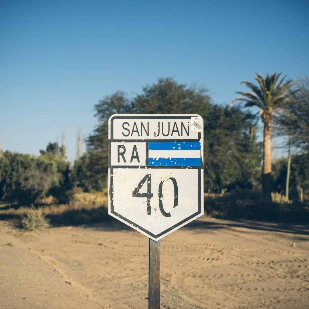 La Ruta 40 dans la province de San Juan