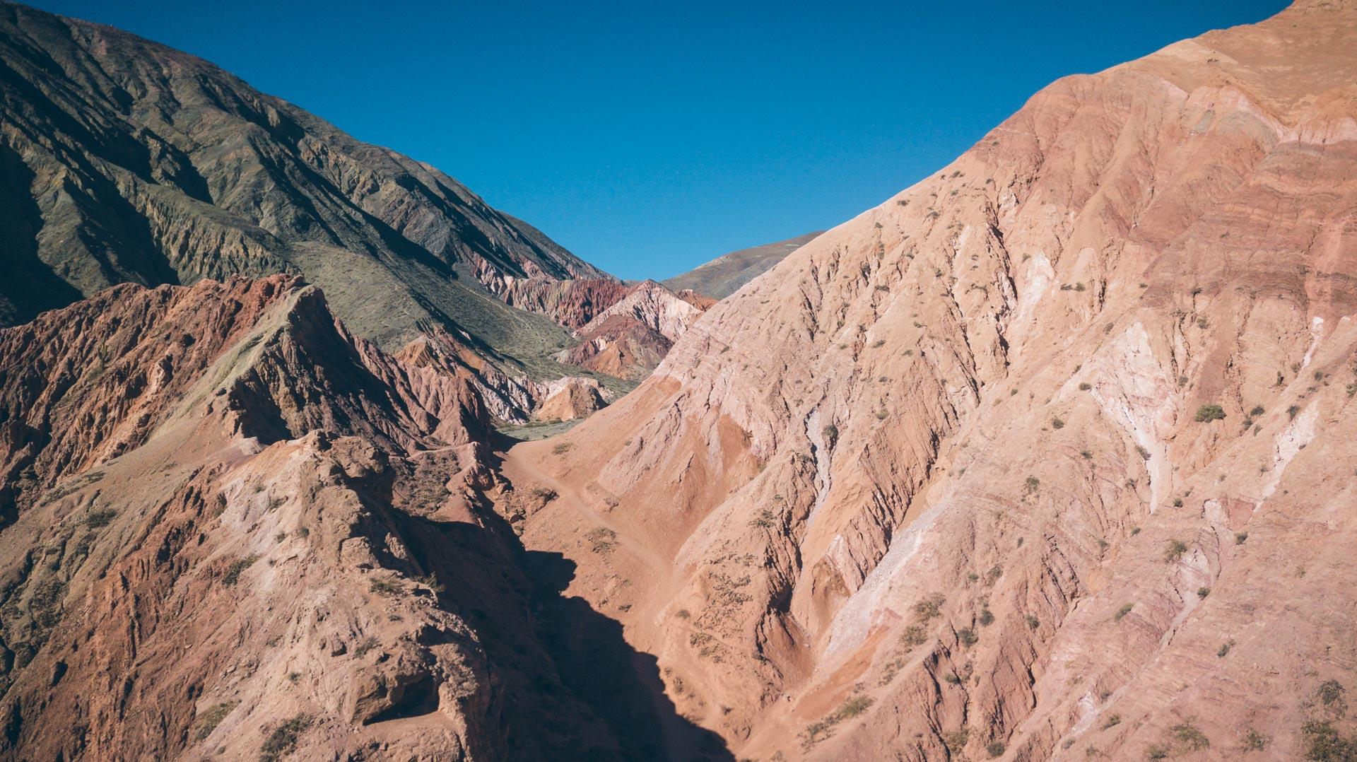 Vue sur les montagnes de Purmamarca