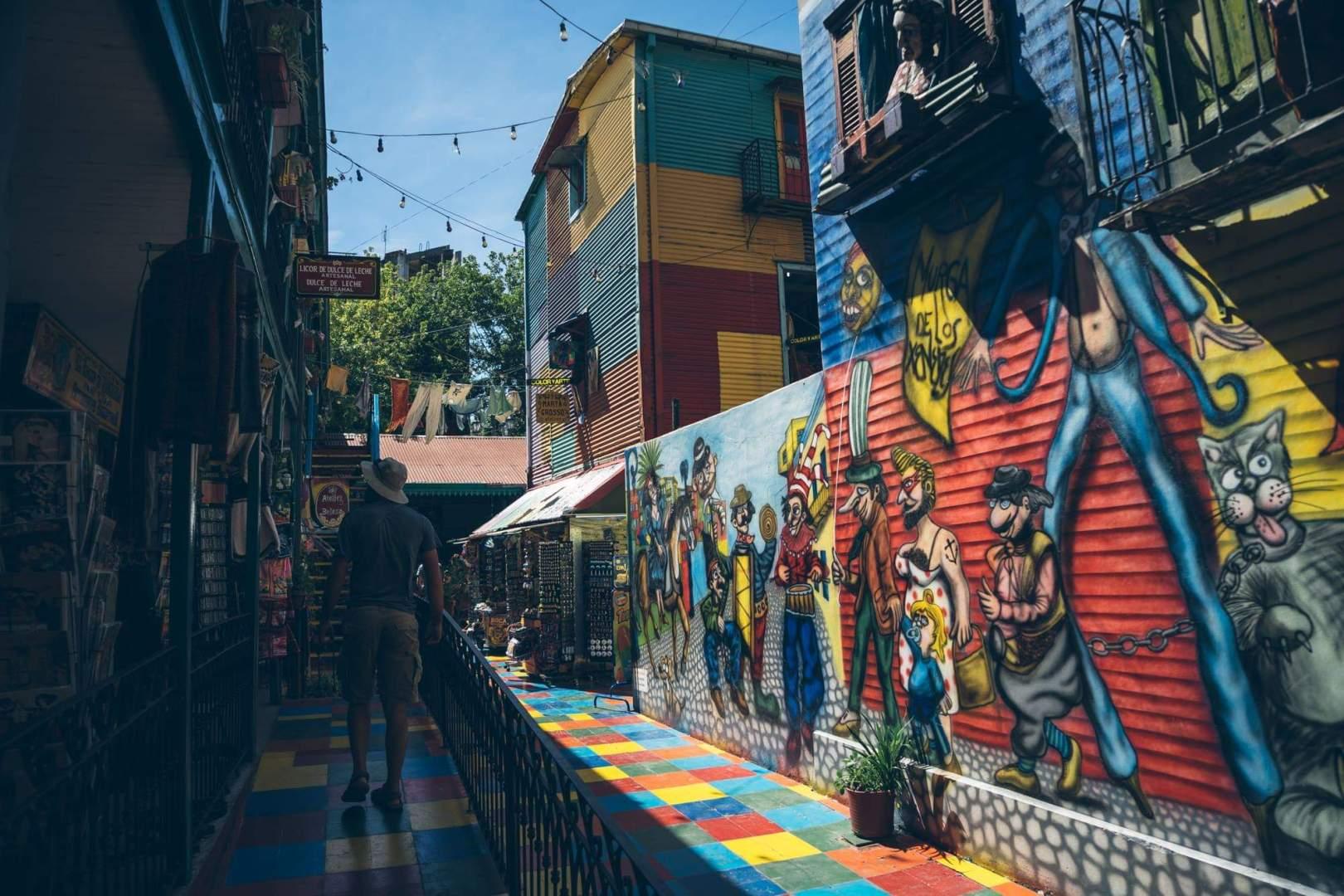 Certains quartiers de Buenos Aires sont très colorés