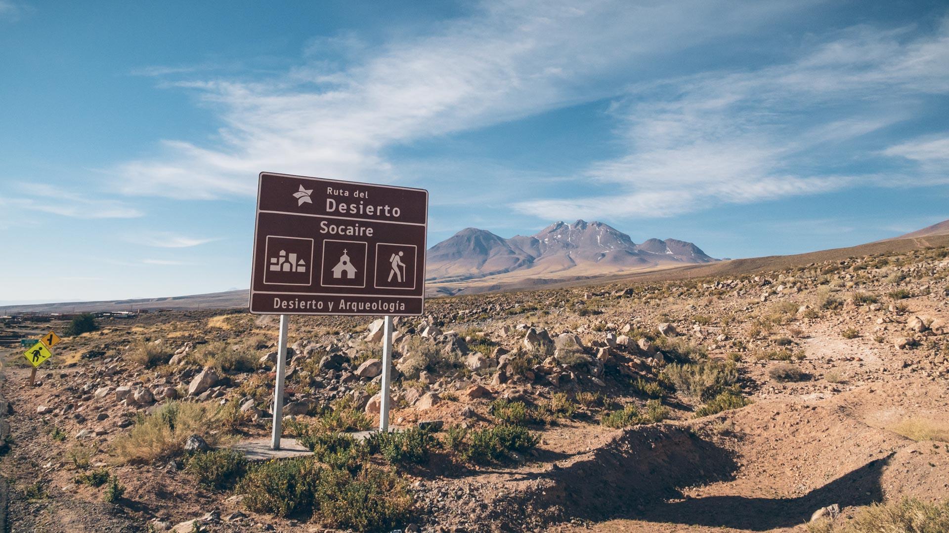 On arrive à Socaire première ville chilienne depuis le paso Sico