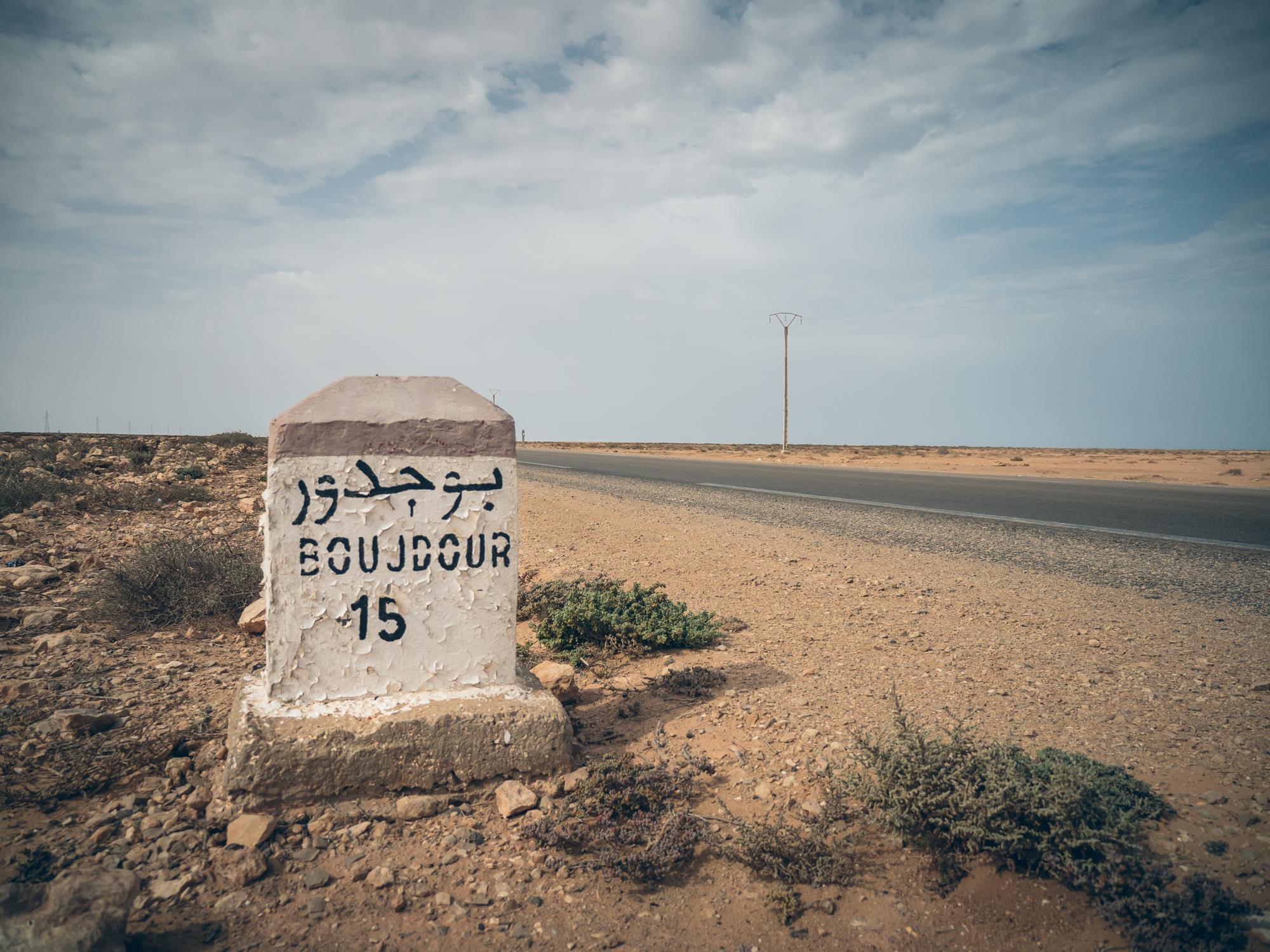 Borne kilométrique Boujdour