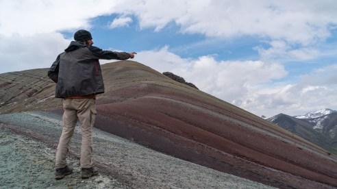 Guillaume devant la montagne