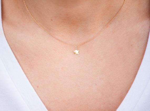 itsy bitsy star of david necklace