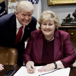 Donald Trump Erna Solberg Norway