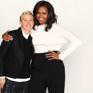 Ellen DeGeneres Michelle Obama Melania Trump