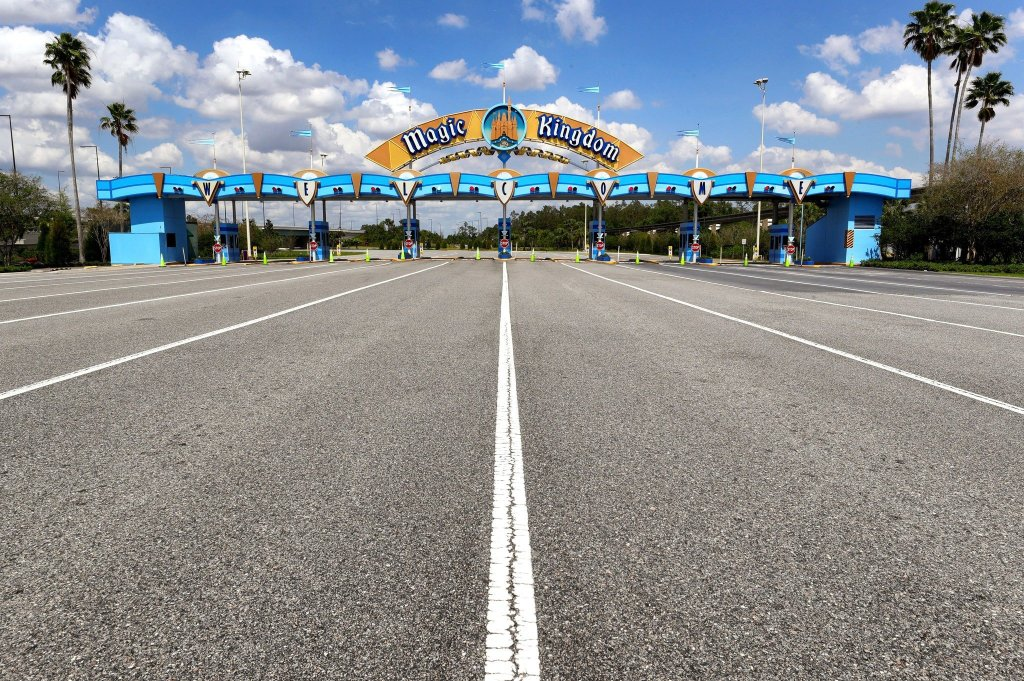 Empty Magic Kingdom Gates in Walt Disney World Florid