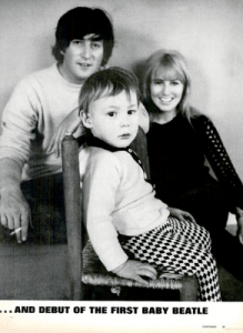 Beatles in LIFE Magazine: John, Cyn and Julian, 1965