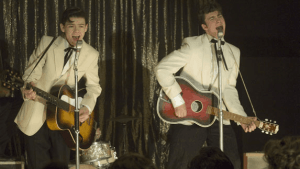 Nowhere Boy's version of John and Paul rock out as The Quarrymen.