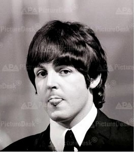 Paul with tongue out