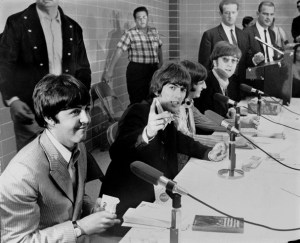 The before-show press conference, backstage, Mid-South Coliseum.