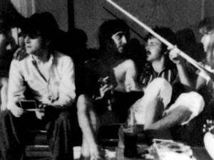 John, Paul, and Keith Moon, Santa Monica, CA, 1974.