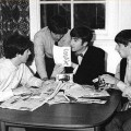 "Beatles reading fan mail, including a card reading ""S E X."""