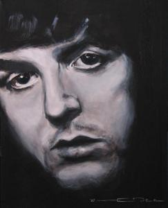 Painting of Paul McCartney by Eric Dee