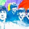 beatles watercolor