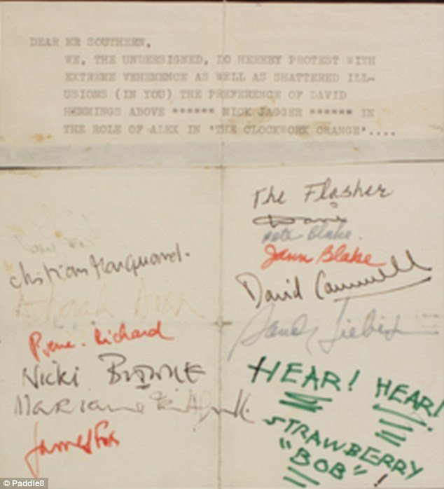 Beatles petition Mick Jagger A Clockwork Orange