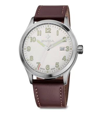 SWIZA watch, Kretos Gent brown leather strap
