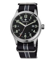 SWIZA watch, Kretos Gent black strap