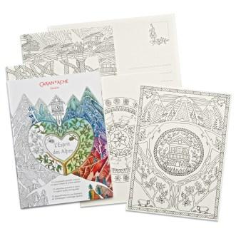 Caran D''Ache Colouring Postcard Set
