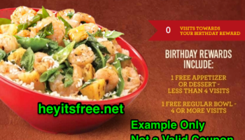 Carrabba's Italian Grill Birthday Freebie