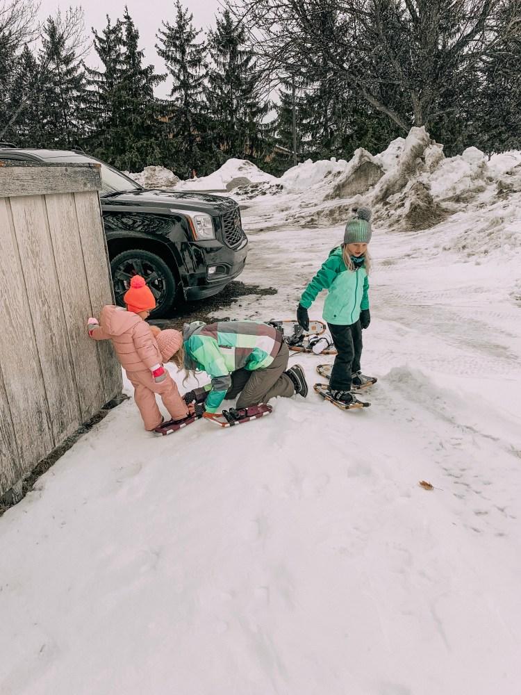 grand traverse resort snow travek guide winter snowshoe