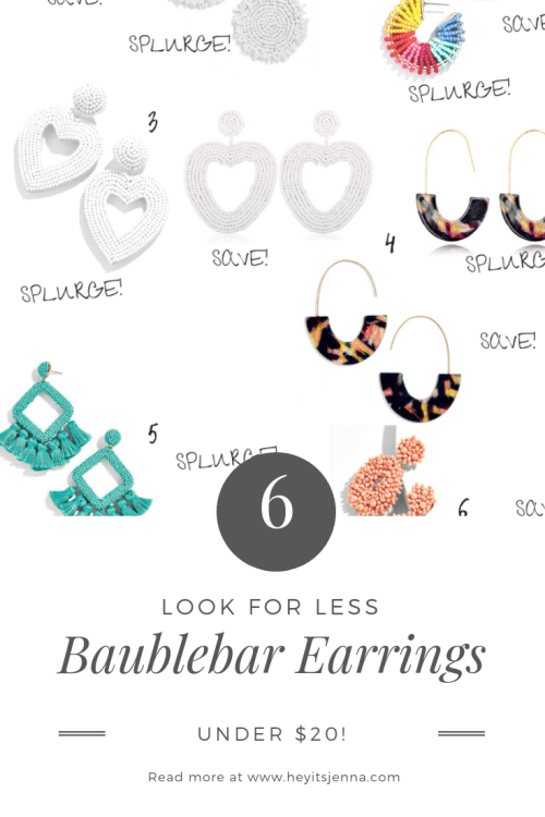 baublebar look for less amazon finds earrings