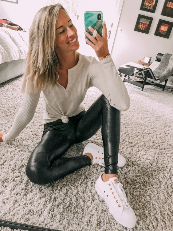 spanx leather leggings converse platform outfit