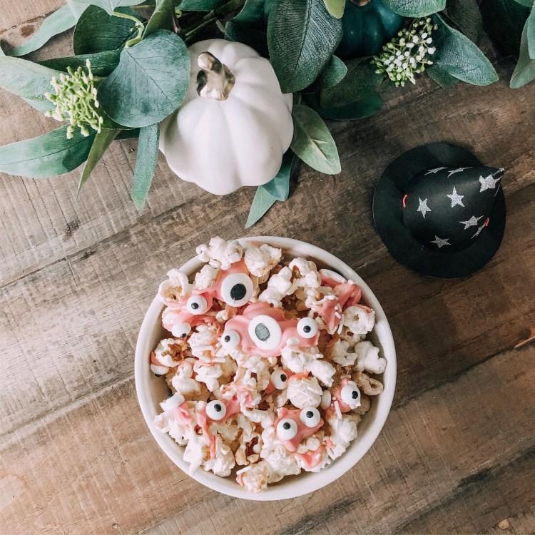spooky popcorn recipe halloween baking with kids