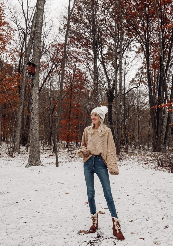 Winter Boots + Statement Sleeves