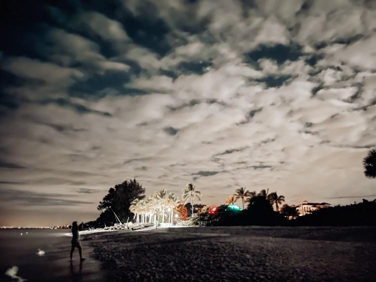 bonita springs at night, doc's beach