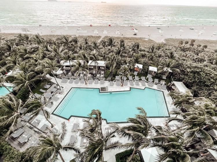 W south beach hotel miami pool on the beach