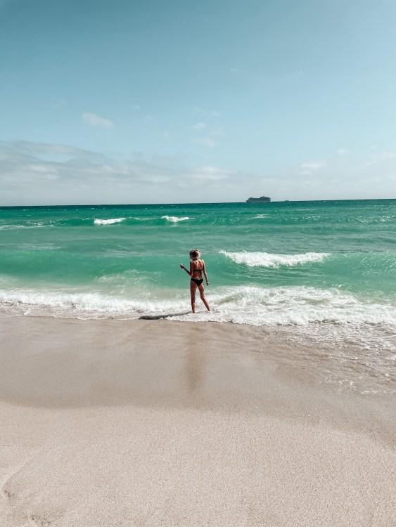 the beach at W South Beach florida
