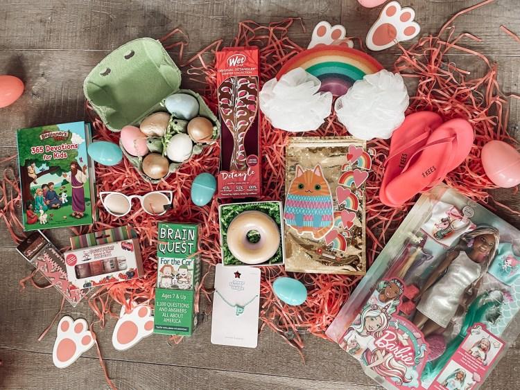 easter basket fillers for girls, gifts, twee chalk, target moms