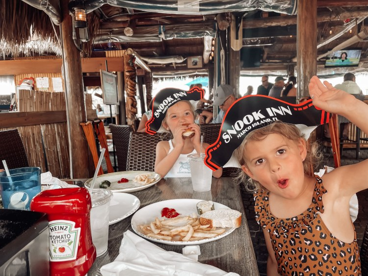 snook inn marco island where to eat with kids