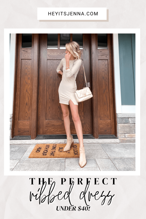 the perfect ribbed dress for the end of summer fall trends NSALE